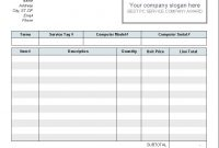 Download Free Computer Service Invoice Template Computer Service regarding Invoice Template For Iphone