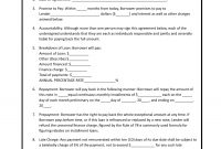 Download Simple Loan Agreement Template  Pdf  Rtf  Word inside Blank Loan Agreement Template
