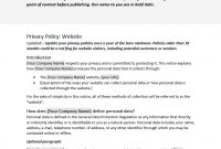 Download This Free Website Privacy Template within Customer Data Privacy Policy Template