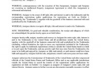 Download Trademark Assignment Agreement Style  Template For Free At in Intellectual Property Assignment Agreement Template