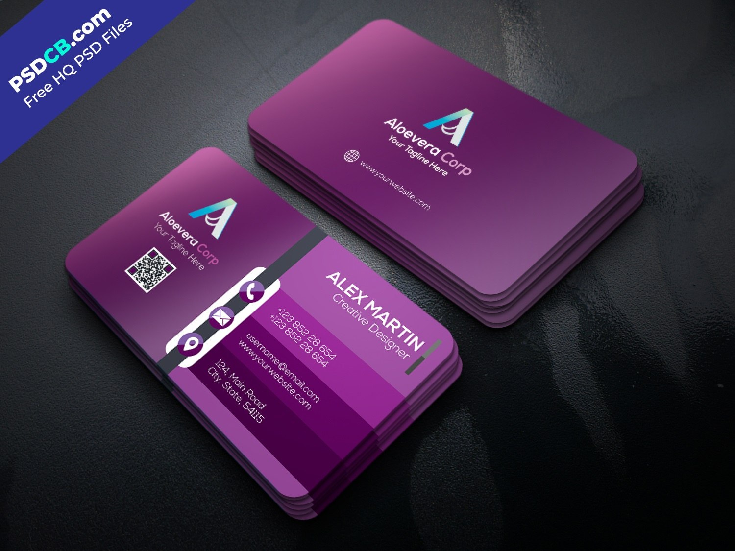 Download Unique Creative Business Card Template Psd Set For Free With Regard To Creative Business Card Templates Psd