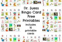 Dr Seuss Bingo Game Free Printable  Best Crafts And Diy  Dr Seuss intended for Dr Seuss Birthday Card Template