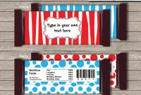 Dr Seuss Hershey Candy Bar Wrappers  Personalized Candy Bars inside Hershey Labels Template