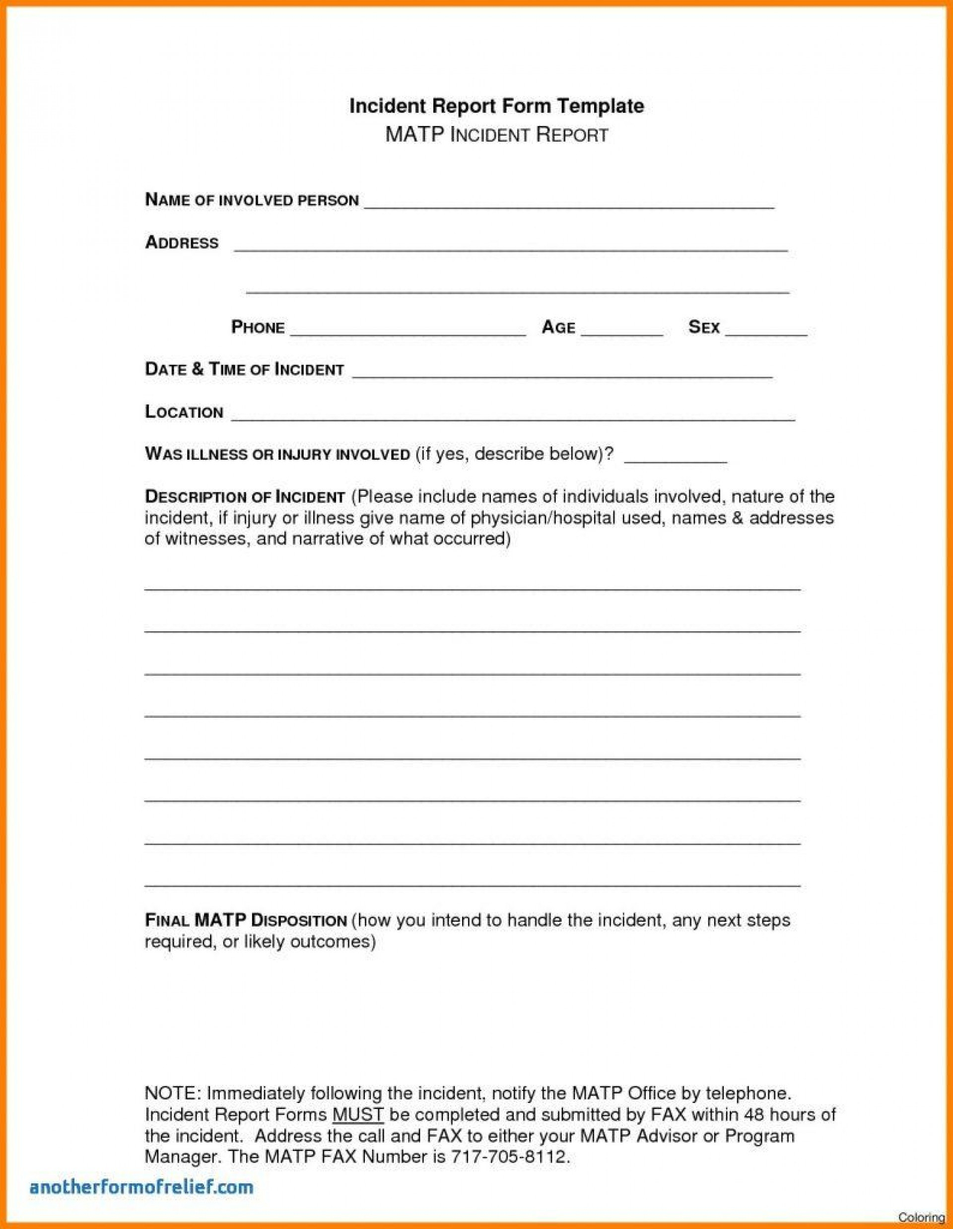 Dreaded Accident Report Form Templates Template Ideas Construction In Construction Accident Report Template
