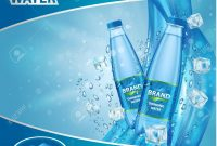 Drinking Water Advertisement Template Design Vector Realistic pertaining to Mineral Water Label Template