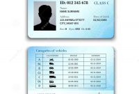 Driver License Illustration Stock Vector  Illustration Of with regard to Blank Drivers License Template