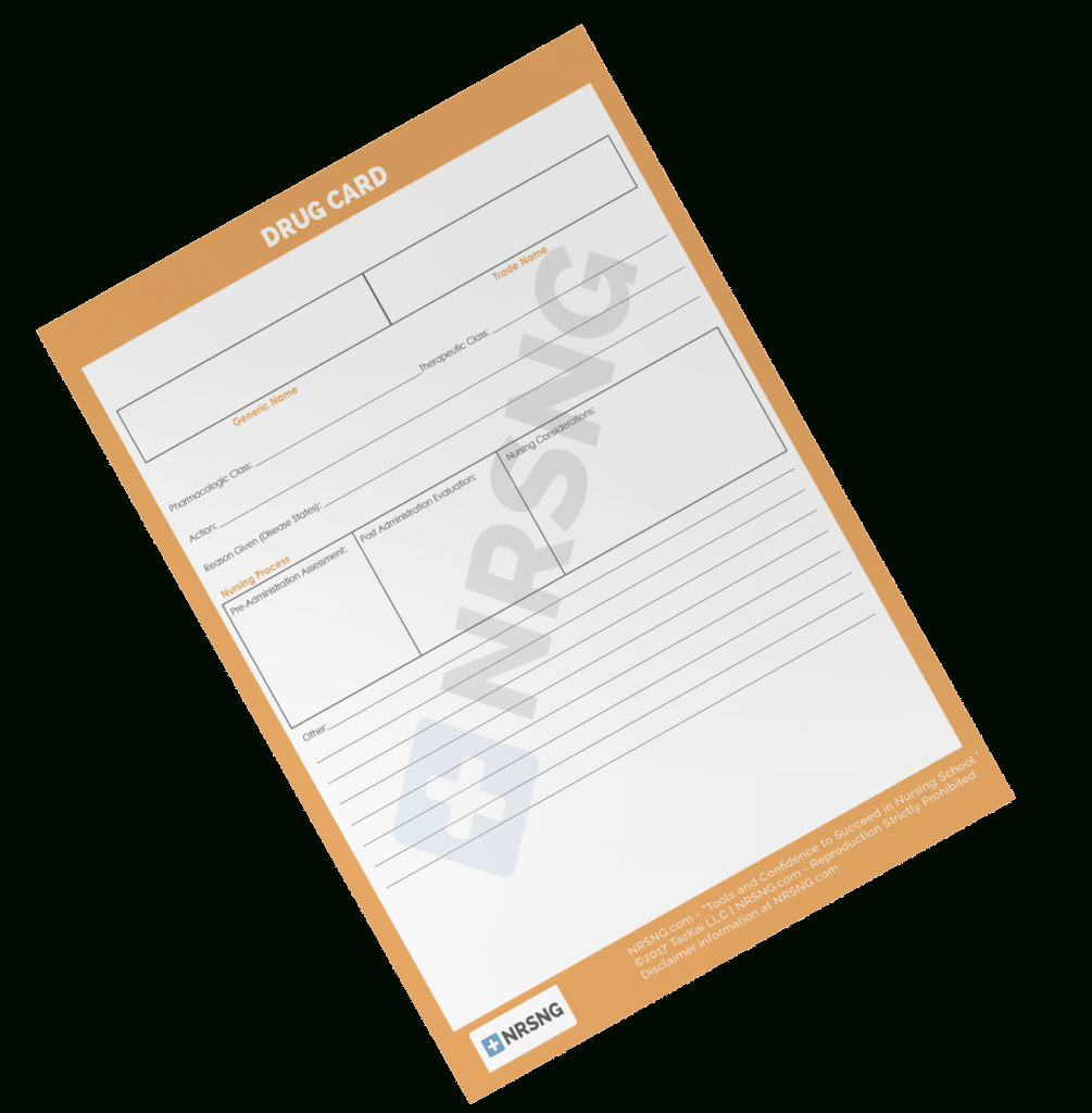Drug Card Template  Nrsng Pertaining To Med Cards Template