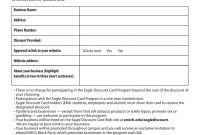 Eagle Discount Card Program Letter Of Agreement pertaining to Discount Agreement Template