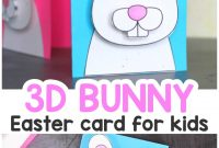 Easter Bunny Card  Easy Peasy And Fun inside Easter Chick Card Template