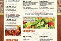 Easy Menu Design Online Menu Templates From The Menu Maker inside To Go Menu Template