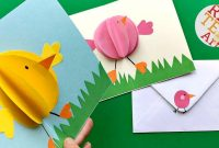 Easy Pop Up Chick Card  D Easter Card Diy  Cute  Easy  Youtube intended for Easter Card Template Ks2