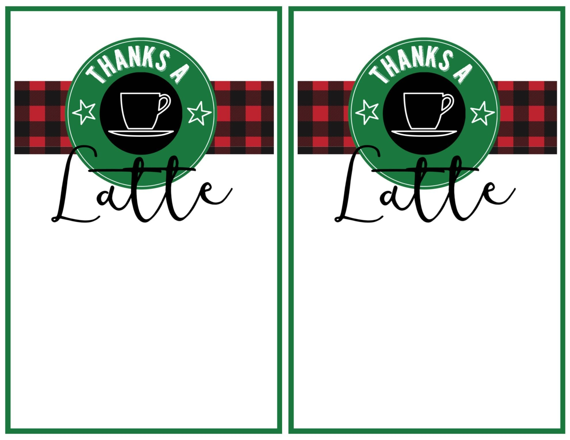 Easy Teacher Christmas Gift Idea Starbucks Gift Card  Paper Trail With Regard To Thanks A Latte Card Template