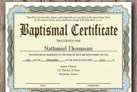 Editable Baptism Certificate Template  Pdf Adobe Reader Editable File   Printable Certificate Template  Instant Download within Baptism Certificate Template Download