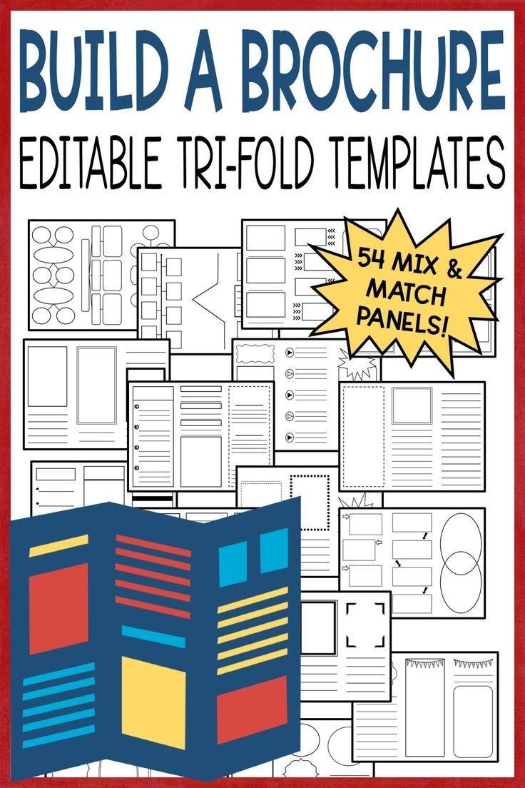 Editable Brochure Templates  Us History  Th Grade Social Studies For Brochure Rubric Template