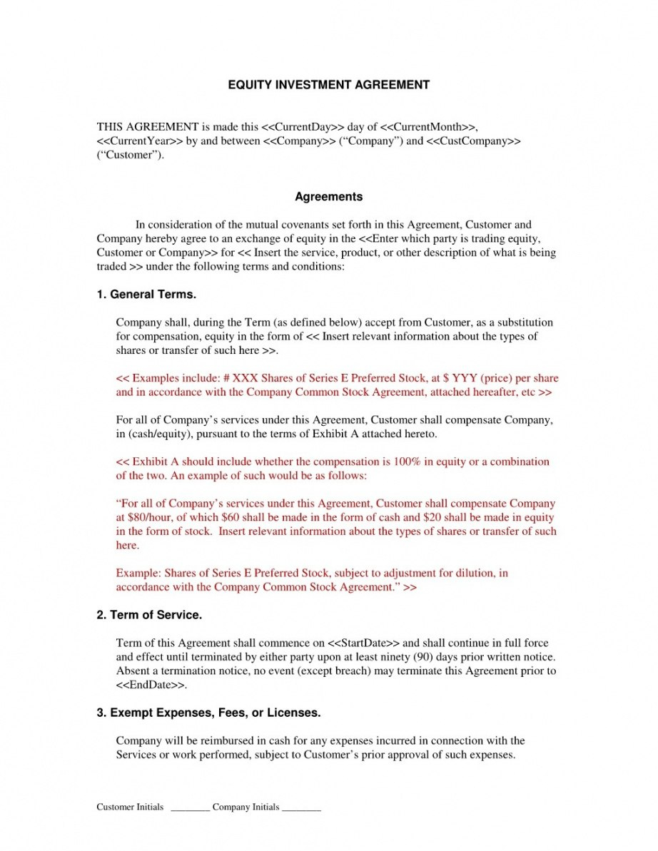 Editable Equity Sharing Agreement Form Startup Sample Basic Free Pertaining To Information Sharing Agreement Template