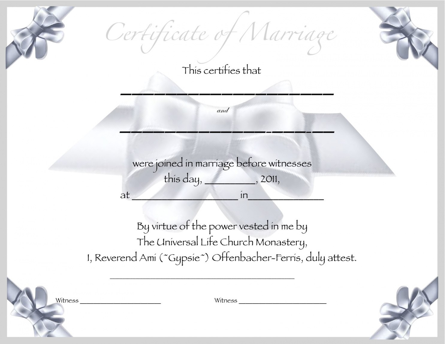 Editable Free Blank Marriage Certificate Template Underbergdorfbibco Throughout Blank Marriage Certificate Template