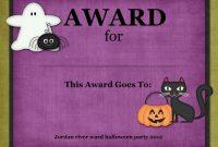 Editable Halloween Costume Awards Hashtag Bg Costume Contest intended for Halloween Costume Certificate Template