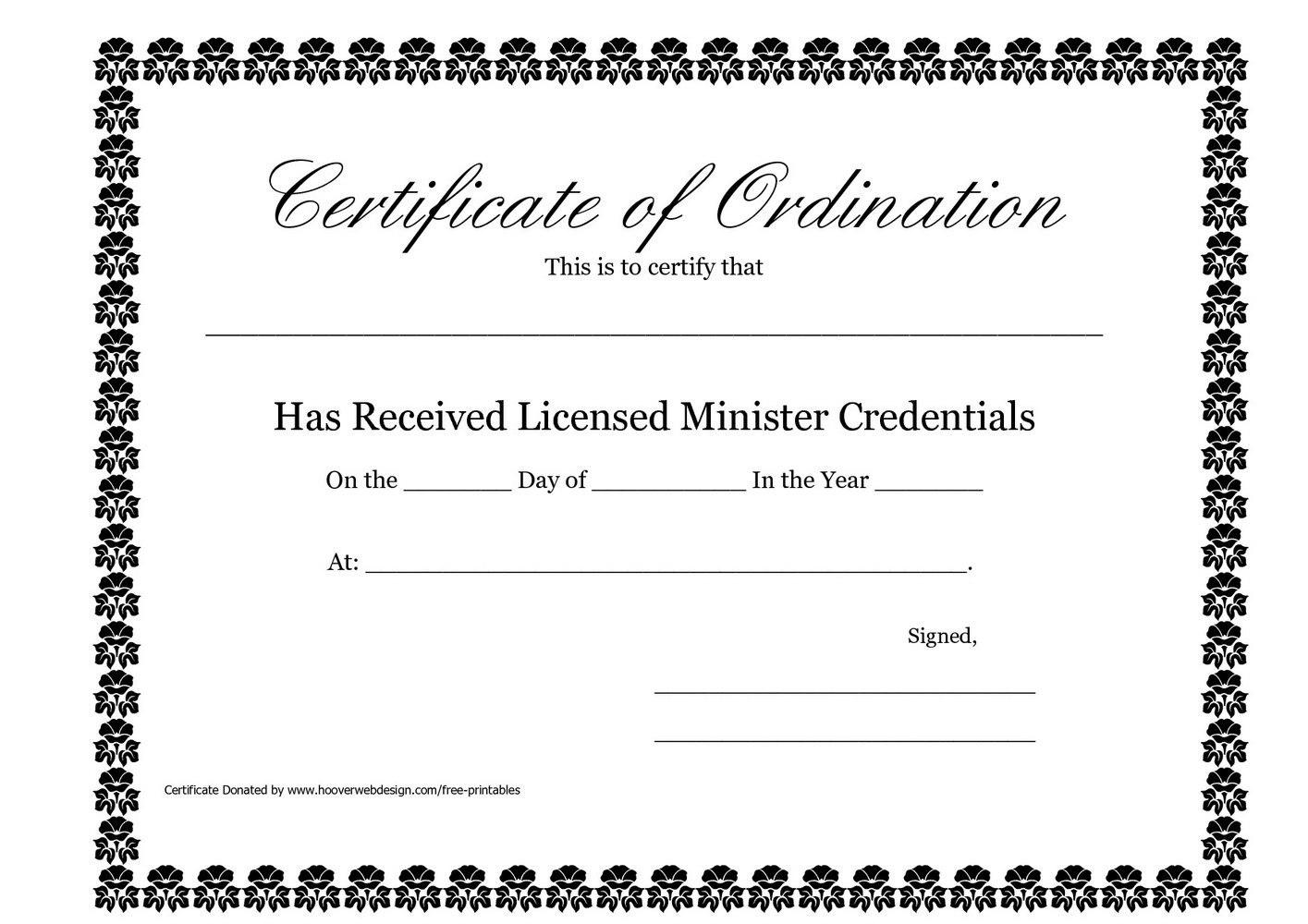 Editable Ordination Certificate Template Beautiful Deacon Ordination In Ordination Certificate Template