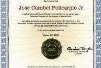Editable Ordination Certificates Printable Ordination Certificate regarding Ordination Certificate Template