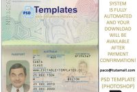 Editable Passport Templates Buy Registered Realfake Passports for Florida Id Card Template