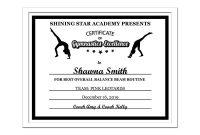 Editable Pdf Sports Team Gymnastics Certificate Award Template  Etsy in Gymnastics Certificate Template