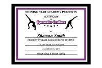 Editable Pdf Sports Team Gymnastics Certificate Award Template  Etsy with Gymnastics Certificate Template