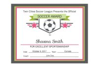 Editable Pdf Sports Team Soccer Certificate Award Template In throughout Tennis Gift Certificate Template