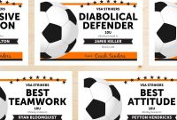 Editable Soccer Award Certificates Instant Download  Etsy Within Soccer Award Certificate Templates Free