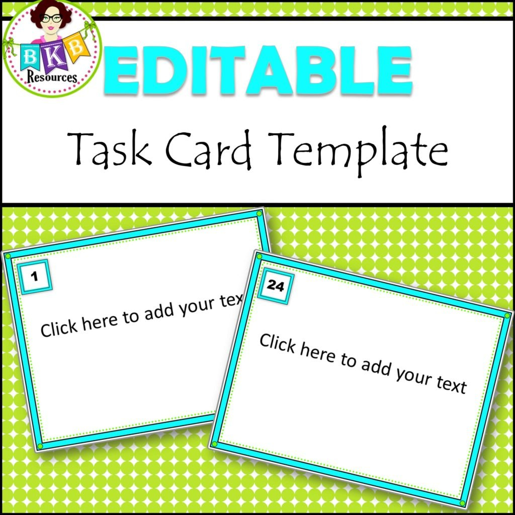 Editable Task Card Templates  Bkb Resources Intended For Task Card Template