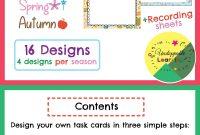 Editable Task Card Templates Seasonal Themed  My Products From Tpt regarding Task Card Template