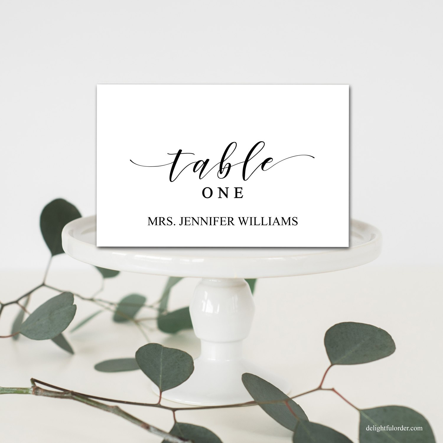 Editable Wedding Table Place Cards Tent Fold Table Setting  Etsy With Place Card Setting Template