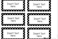 Editable Word Wall Templates  Back To School  Word Wall Labels With Template For Address Labels In Word