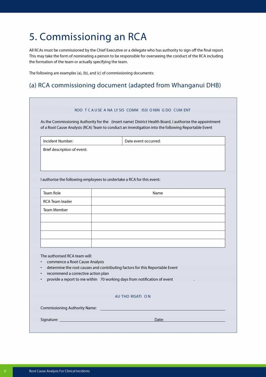 Effective Root Cause Analysis Templates Forms  Examples With Root Cause Report Template