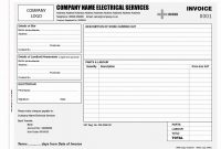 Electrical Invoice Template Free And Job Sheet Template For Within Work Invoice Template Free Download