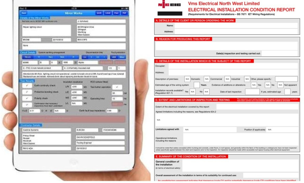 Electrical Minor Works Certificate Template  Mandegar Inside Electrical Minor Works Certificate Template