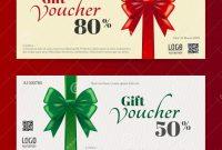 Elegant Christmas Gift Card Or Gift Voucher Template Stock Vector intended for Elegant Gift Certificate Template