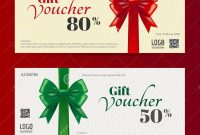 Elegant Christmas Gift Card Or Gift Voucher Template Stock Vector with Christmas Gift Certificate Template Free Download