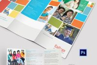 Elegant College Tri Fold Brochure Template  College Brochures inside Tri Fold School Brochure Template