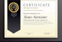 Elegant Diploma Award Certificate Template Design Vector Image with Elegant Certificate Templates Free