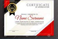 Elegant Diploma Certificate Template Design Stock Vector pertaining to Qualification Certificate Template