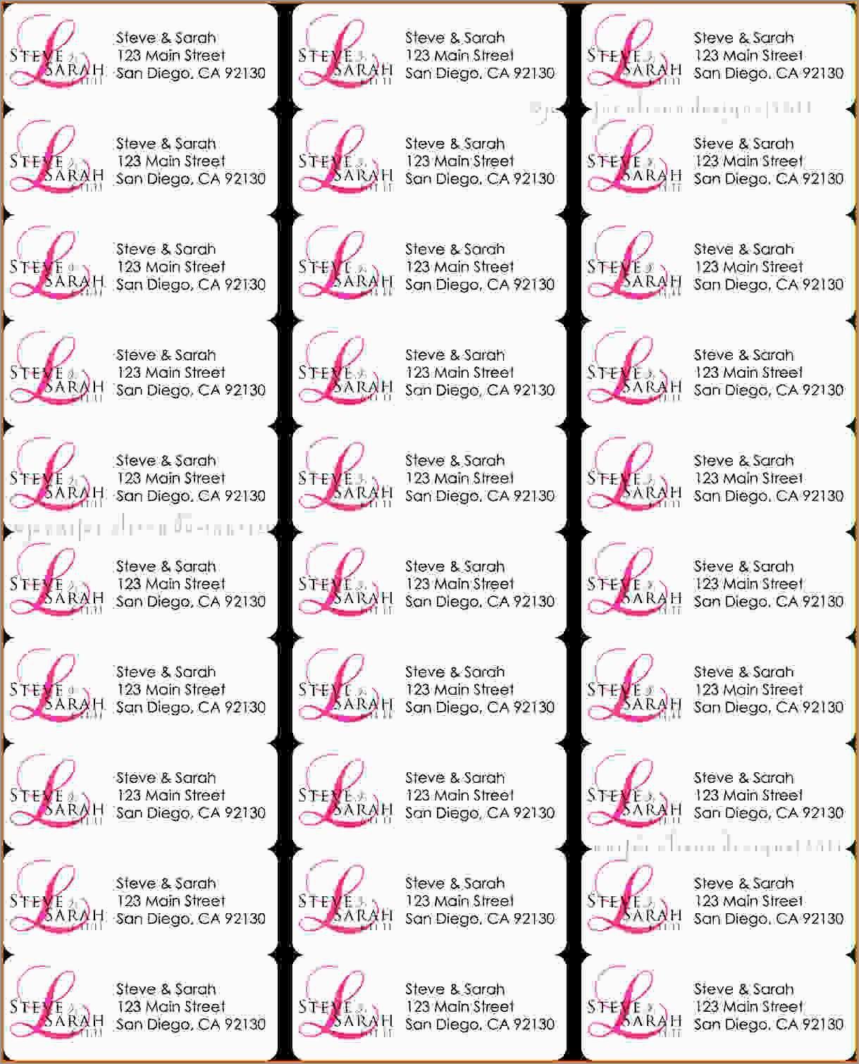 Elegant Free Christmas Return Address Label Templates  Per Sheet For Return Address Labels Template 30 Per Sheet