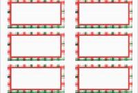 Elegant Free Christmas Return Address Label Templates  Per Sheet within Christmas Return Address Labels Template