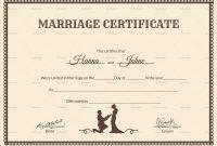 Elegant Free Marriage Certificate Template Word  Best Of Template with Blank Marriage Certificate Template