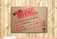 Elegant Free Printable Moving Announcement Templates  Best Of Template within Free Moving House Cards Templates