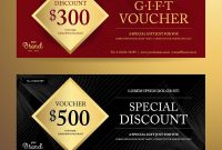 Elegant Gift Voucher Or Discount Card Template Vector Image with regard to Elegant Gift Certificate Template