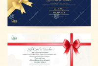 Elegant Gift Voucher Or Gift Card Template Stock Vector for Elegant Gift Certificate Template
