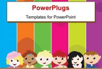 Elegant Ppt Theme Enhanced With A Cartoon Theme Of Six Kids Standing within Powerpoint Comic Template
