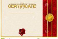 Elegant Template Of Certificate Diploma Stock Illustration with regard to Elegant Certificate Templates Free