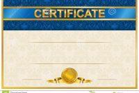 Elegant Template Of Certificate Diploma Stock Vector  Illustration throughout Elegant Certificate Templates Free