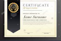 Elegante Diplom Award Certificate Template Design Vektor Abbildung intended for Design A Certificate Template